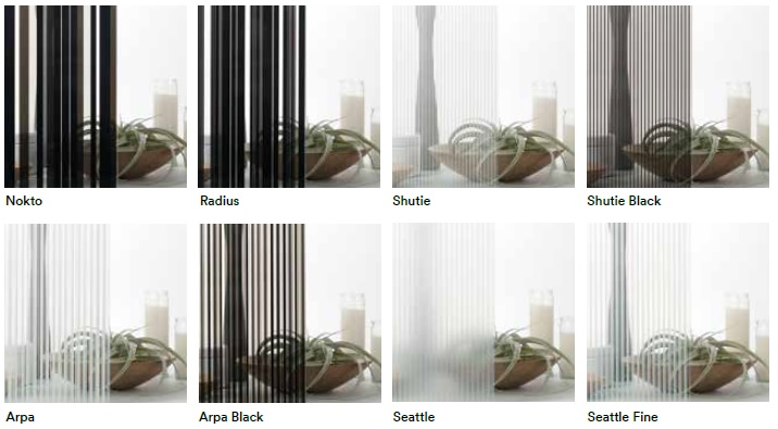 3m fasara stripe pellicole per vetri decorative